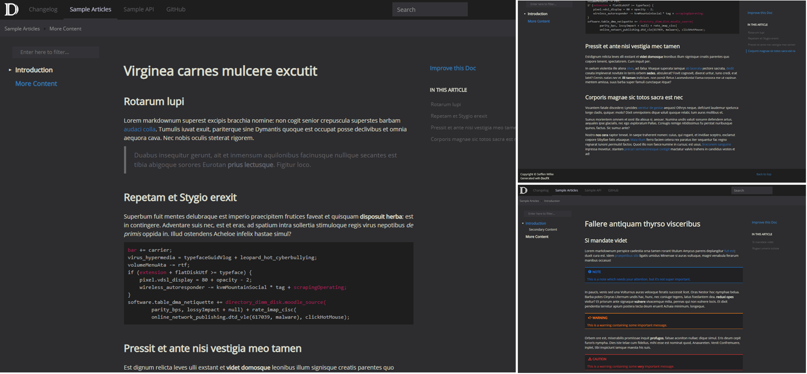 Available templates and themes |
